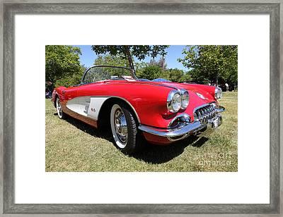 1958 Chevrolet Corvette . 5d16220 Framed Print by Wingsdomain Art and Photography