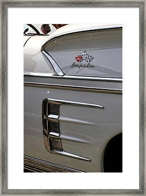 1958 Chevrolet Impala Framed Print by Gordon Dean II