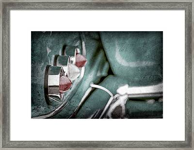 Framed Print featuring the photograph 1958 Chevrolet Impala Taillight -0544ac by Jill Reger