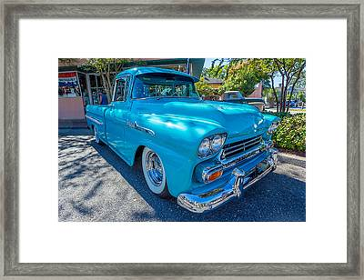 1958 Chevy Apache Framed Print by Gestalt Imagery