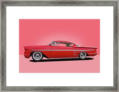 1958 Customized Chevrolet Impala 3 Framed Print
