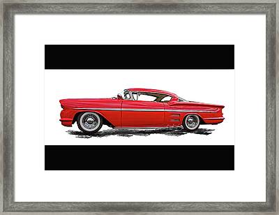 1958 Customized Chevrolet Impapa 1 Framed Print