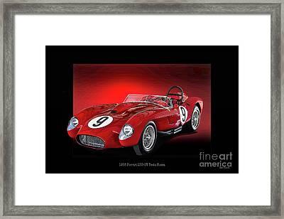 1958 Ferrari 250 Gt Testa Rossa 'studio' Framed Print