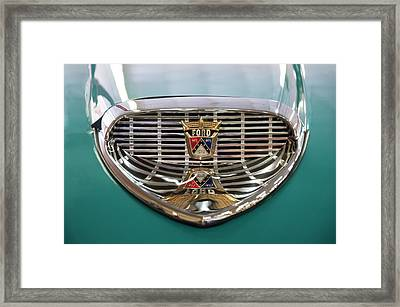 Framed Print featuring the digital art 1958 Ford Fairlane Sunliner Intake by Chris Flees