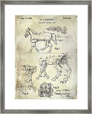 1958 Horse Toy Patent Framed Print
