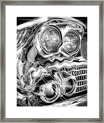1958 Impala Beauty Within The Beast Framed Print by Peter Piatt