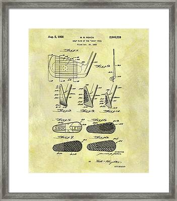 1958 Iron Golf Club Patent Framed Print