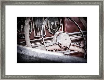1958 Mercedes-benz 300sl Roadster Steering Wheel -1131ac Framed Print by Jill Reger