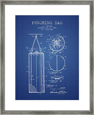 1958 Punching Bag Patent Spbx14_bp Framed Print