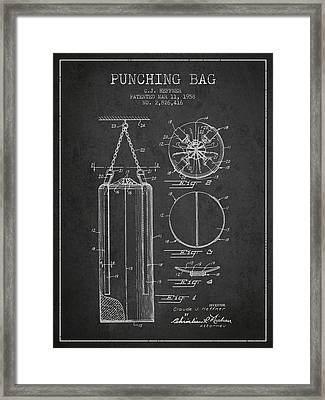 1958 Punching Bag Patent Spbx14_cg Framed Print