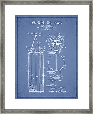 1958 Punching Bag Patent Spbx14_lb Framed Print