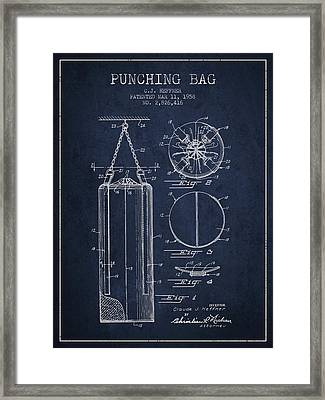 1958 Punching Bag Patent Spbx14_nb Framed Print