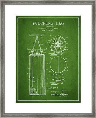 1958 Punching Bag Patent Spbx14_pg Framed Print