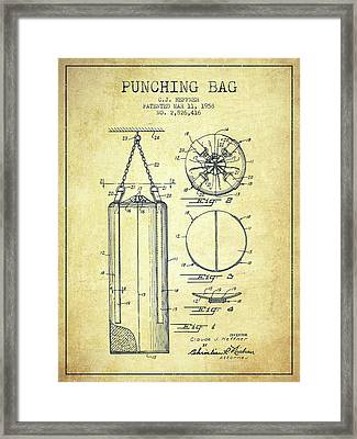 1958 Punching Bag Patent Spbx14_vn Framed Print