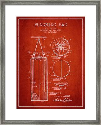 1958 Punching Bag Patent Spbx14_vr Framed Print