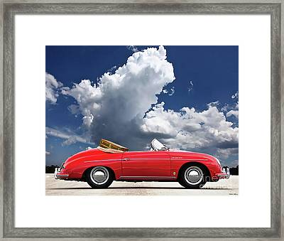1958 Red Porsche 356a, 1600 Speedster Framed Print