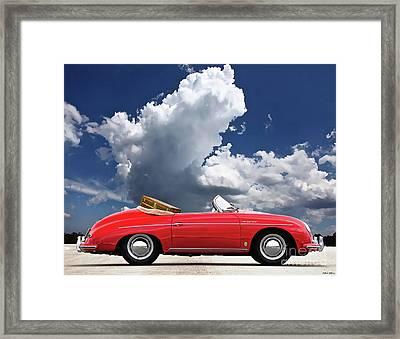 1958 Red Porsche 356a, 1600 Speedster Framed Print