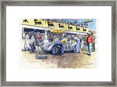 1958 Targa Florio Porsche 718 Rsk Behra Scarlatti 2 Place Framed Print by Yuriy Shevchuk