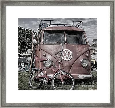 1958 Volkswagen  Framed Print by Steven Digman