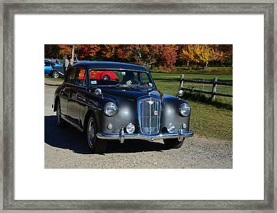 1958 Wolseley Six Ninety Framed Print by Mike Martin