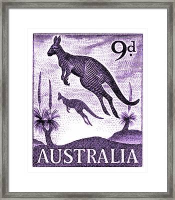 1959 Australia Kangaroo Postage Stamp Framed Print