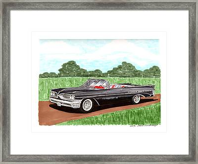 1959 Bonneville Land Yacht Framed Print