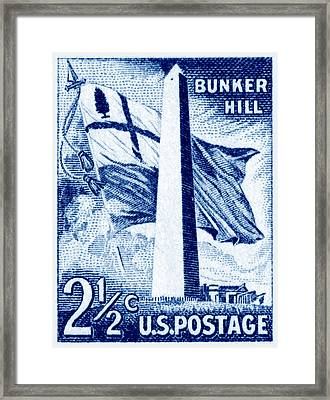 1959 Bunker Hill Stamp Framed Print by Historic Image