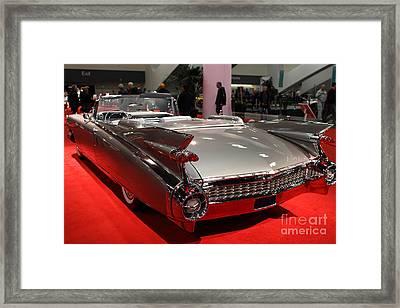1959 Cadillac Convertible . Rear Angle Framed Print by Wingsdomain Art and Photography