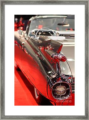 1959 Cadillac Convertible . Wing View Framed Print