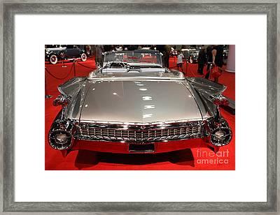 1959 Cadillac Eldorado Convertible . Rear View Framed Print by Wingsdomain Art and Photography
