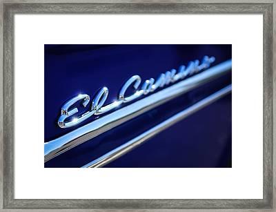 1959 Chevrolet El Camino Emblem -0008c Framed Print by Jill Reger