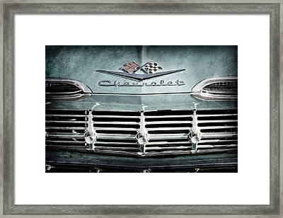 1959 Chevrolet Impala Grille Emblem -1014ac Framed Print by Jill Reger