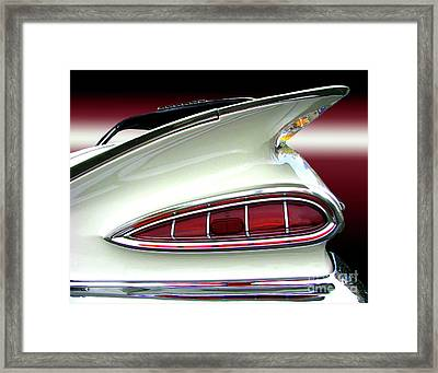 1959 Chevrolet Impala Tail Framed Print by Peter Piatt