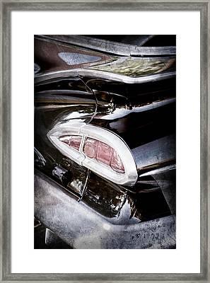 1959 Chevrolet Impala Taillight -0103ac Framed Print by Jill Reger