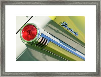 1959 Chevrolet Napco Fleetside Tail Light Emblem -1564c Framed Print by Jill Reger