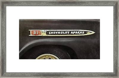 1959 Chevy Apache Framed Print by Scott Norris