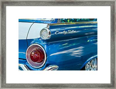 1959 Ford Country Sedan Tail Light Framed Print by Jill Reger