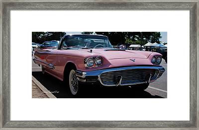 1959 Ford Thunderbird Convertible Framed Print by Joann Copeland-Paul