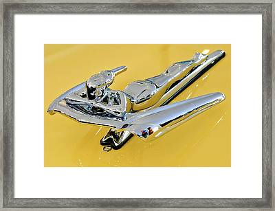 1959 Nash Metropolitan Coupe Hood Ornament Framed Print by Jill Reger