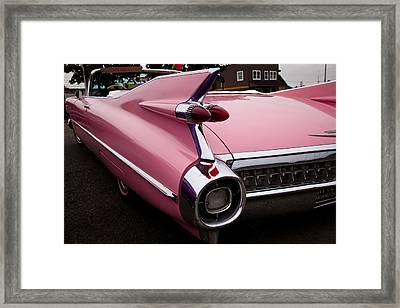 1959 Pink Cadillac Convertible Framed Print