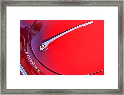 1959 Porsche 1600 Cabriolet Hood Ornament Framed Print by Jill Reger