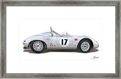 1959 Porsche Type 718 Rsk Spyder Framed Print by Alain Jamar