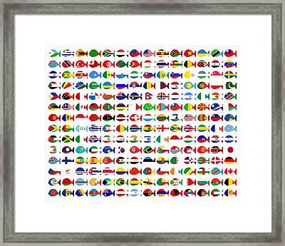196 Fishes Basic Framed Print