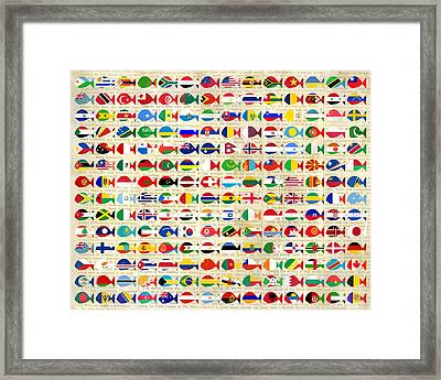 196 Fishes In News Framed Print