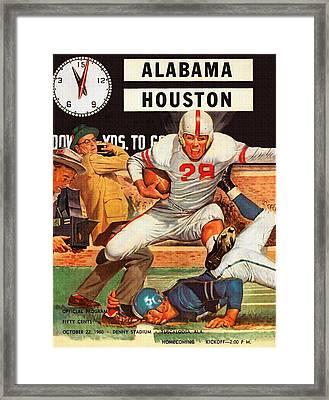 1960 Alabama V Houston Football Program Framed Print