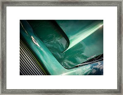 1960 Aston Martin Db-4 Series II Hood Emblem -0417c Framed Print