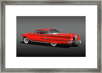 1960 Chevrolet Impala 2-door Hardtop   -   1960chevimphdtopfa170396 Framed Print by Frank J Benz