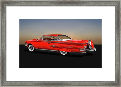 1960 Chevrolet Impala 2-door Hardtop   -   1960chevyimpalahdtp170396 Framed Print by Frank J Benz