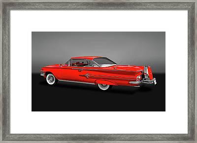 1960 Chevrolet Impala 2-door Hardtop  -   60chevimpalahdtopgry170396 Framed Print by Frank J Benz