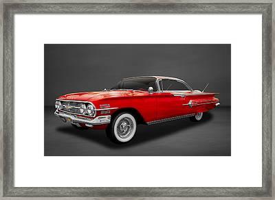 1960 Chevrolet Impala 2-door Hardtop  -  60chgr22 Framed Print by Frank J Benz